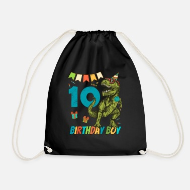 Childrens Birthday Party 10 Year Olds Childrens Birthday Boy Party - Drawstring Bag