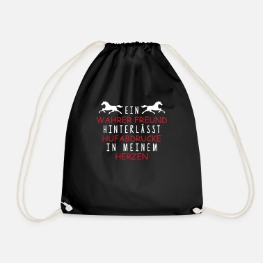 Horse Fan Beautiful horse gift rider horse friends fans - Drawstring Bag