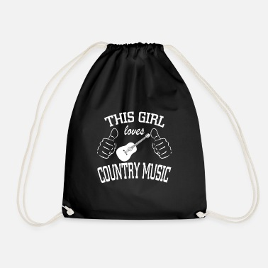 Country This Girl Loves Country Music - Drawstring Bag