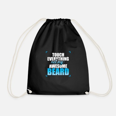 Bearded Collie Bearded Collie Awesome Beard Saying - Drawstring Bag