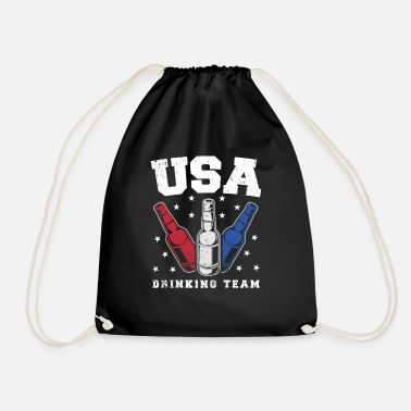 60d98d1a5f01 Team Usa USA drink team - Drawstring Bag