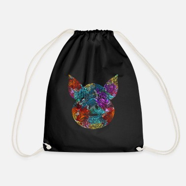 Farming Pig favorite animal gift idea - Drawstring Bag