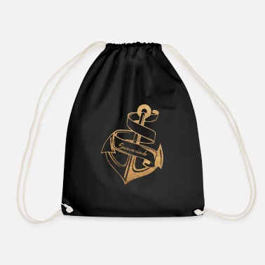 SWINE STYLE | ANCHOR AND BEACH - Drawstring Bag