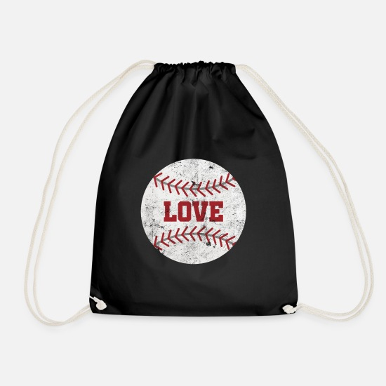 Love Bags & Backpacks - Pitcher batsman gift baseball - Drawstring Bag black