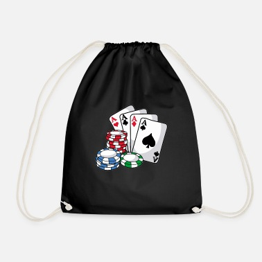 Holdem POKER Cards Poker Chips Texas Holdem Gift - Drawstring Bag