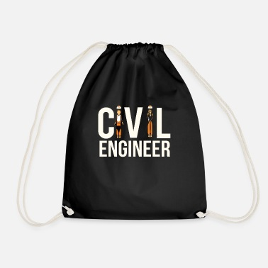 Engineering Cool Civil Engineer Engineering Student or Civil E - Drawstring Bag