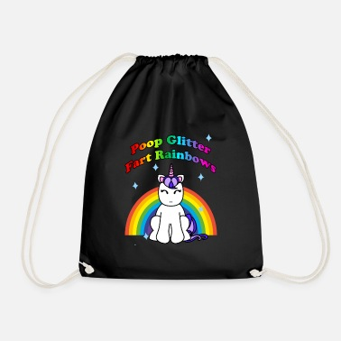 Potty Poop Glitter, Fart Rainbows Unicorn Potty Humor - Drawstring Bag