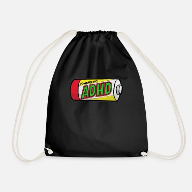 Attention Deficit Disorder ADHD ADS ADHD Attention Deficit Hyperactive - Drawstring Bag