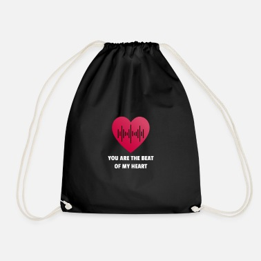 Rhythm You are the beat of my heart - Drawstring Bag