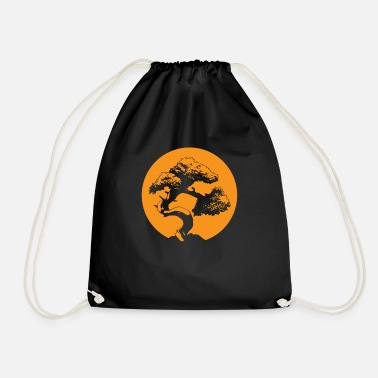 Bonsaï T-shirt Arbres Japonais Zen Bouddhiste Orange - Sac à dos cordon