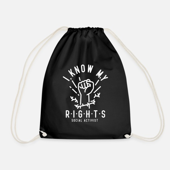 Birthday Bags & Backpacks - activist - Drawstring Bag black