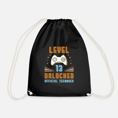 Birthday Official Teenager 13th Birthday Level 13 Unlocked - Drawstring Bag