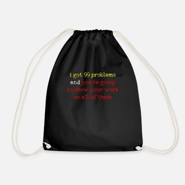 Mathematics Mathematics mathematics mathematics mathematics mathem - Drawstring Bag
