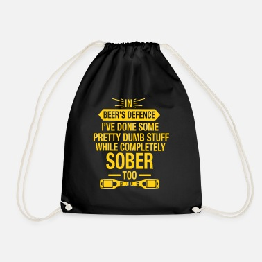 Defence In Beer's Defence Gift - Drawstring Bag