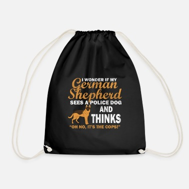 Purebred Dog Support watchdog purebred dog - Drawstring Bag