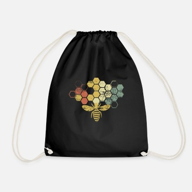Bee Vintage Beekeeper graphic, Honey Bee design - Drawstring Bag