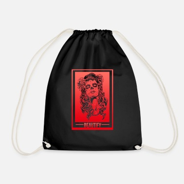 Beauty Beautiful beautiful beautiful make beautiful - Drawstring Bag