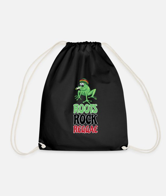 Spliff Bags & Backpacks - Roots Rock Reggae | Jamaican Rasta Stoner Roots - Drawstring Bag black
