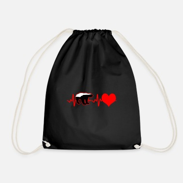 Honey Honey badger heartbeat - Drawstring Bag