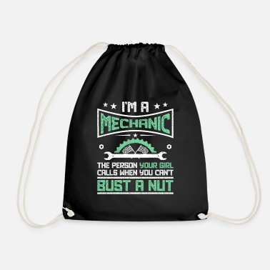 Adult Funny Gift print 4 Mechanics | Adult Humour Gift - Drawstring Bag