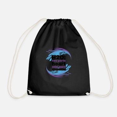 H2O Heart and Obsession swimming design. - Drawstring Bag
