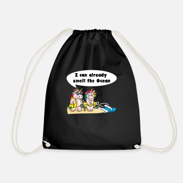 Dirty Couples dirty unicorn couple - Drawstring Bag