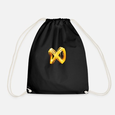 Infinity sign in light - Drawstring Bag