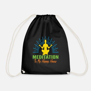 Meditation is my happy house - Drawstring Bag