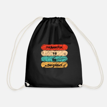 Thankful To Be Different - Drawstring Bag