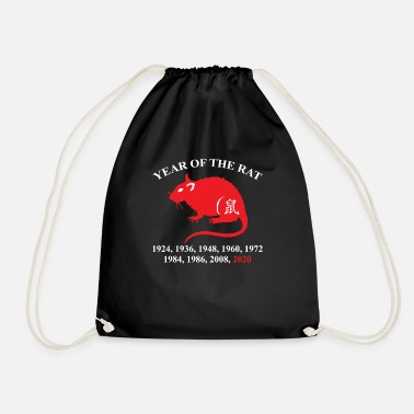 Rat Year Of The Rat Years List Funny Chinese Lunar - Drawstring Bag