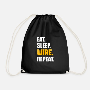 Electrician Electrician men profession - Drawstring Bag