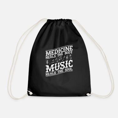 Arguing Medicine heals the body music heals the soul music - Drawstring Bag