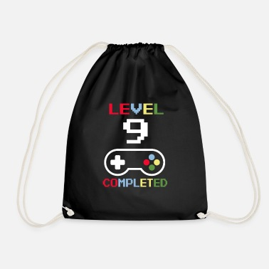 Pixel Birthday Level 9 Completed Gamer gift - Drawstring Bag