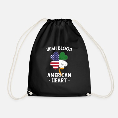 Irlanda Irish Blood American Heart St Patrick's Day - Sacca sportiva
