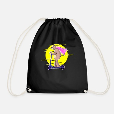 Electric Scooter Electric scooter sloth electric scooter - Drawstring Bag