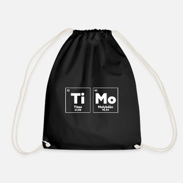 Periodic Table Chemistry Timo gift for chemist nerd geek genius - Drawstring Bag