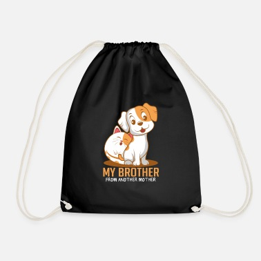 Paw Cat dog brother Funny animal lover gift - Drawstring Bag
