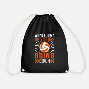 Court When I jump up you are going down - Drawstring Bag