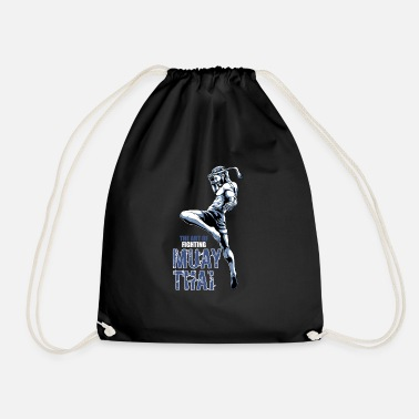 Thai Muay Thai Fighter - Nak Muay and Kickboxing - Drawstring Bag