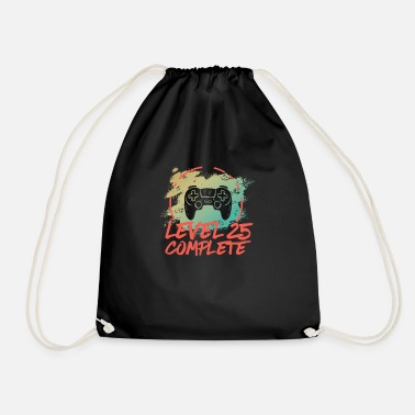 Wife Level 25 Complete Vintage Shirt 25th Wedding - Drawstring Bag