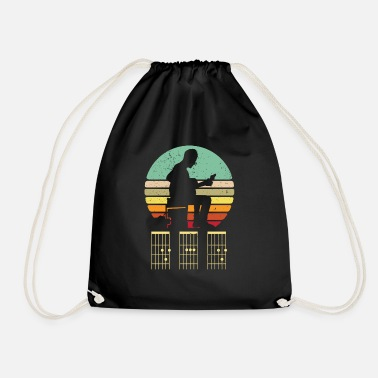 Bass Guitar Dad Shirt - Dad Guitar Chords Shirt - Dad G - Drawstring Bag
