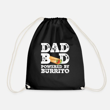 Happiness Dad Bod Powered By Burrito Father Figure Gifts - Drawstring Bag