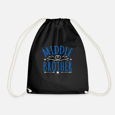 Middle Middle Brother Middle Kid - Drawstring Bag