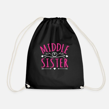 Middle Middle Sister Middle Kid - Drawstring Bag