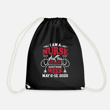 Nurse nurses hospital - Drawstring Bag