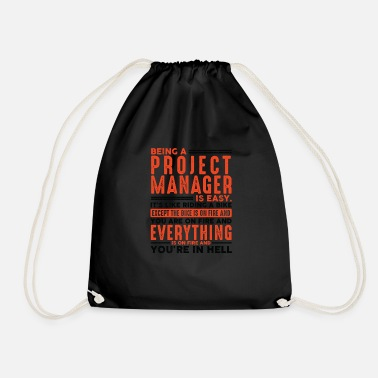 Hard-working Being a Carpenter Is Easy Shirt Everything On Fire - Drawstring Bag