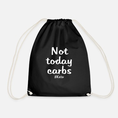 Carbs Funny keto gift ketogenic diet - Drawstring Bag