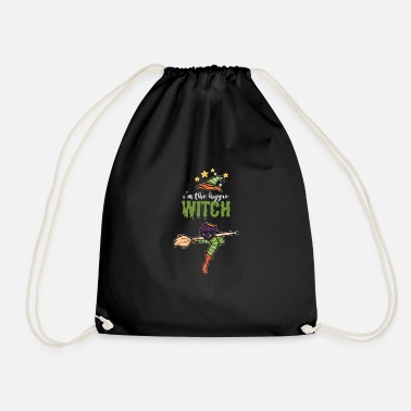 Witchcraft Hippie Witch Halloween Witches Broom Broomstick - Drawstring Bag