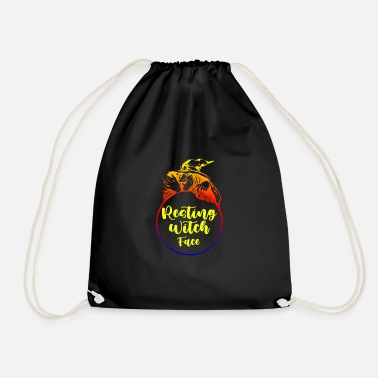 Resting witch face, gifts for halloween - Drawstring Bag