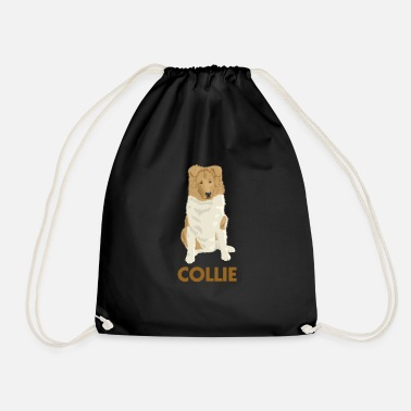 Long Haired Collie Collie rough long hair collie - Drawstring Bag
